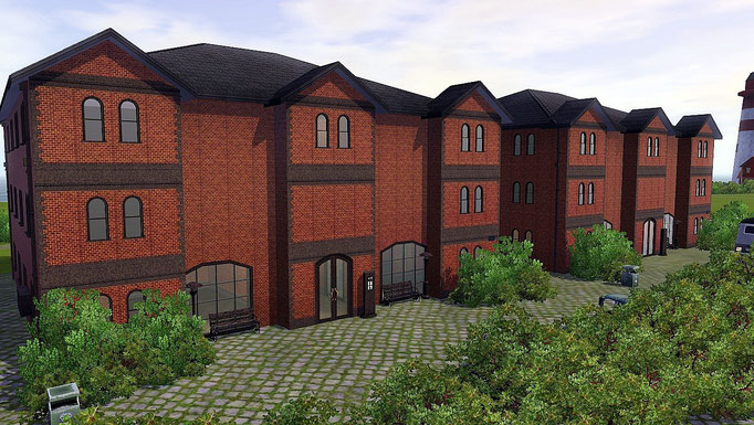 Apartmenthäuser alte Speicher