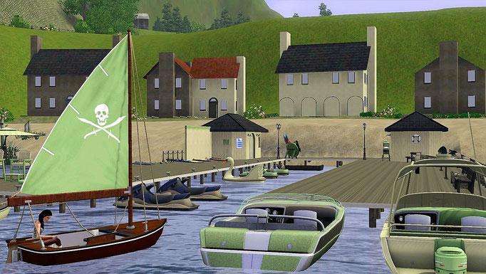 Hafen, Bootsanleger