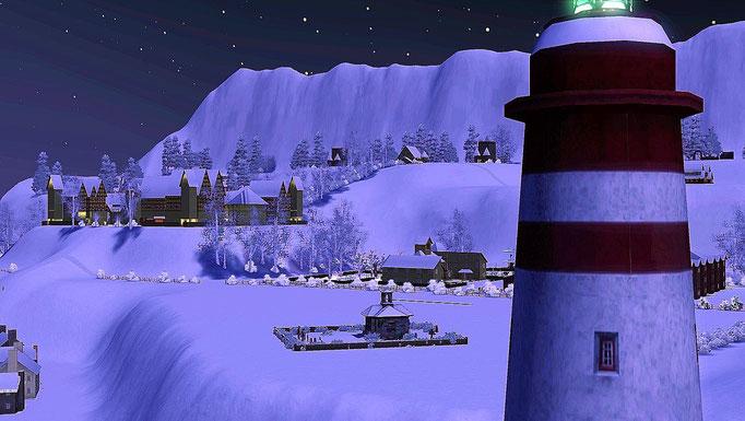 Blick vom Leuchtturm auf die Stadt
