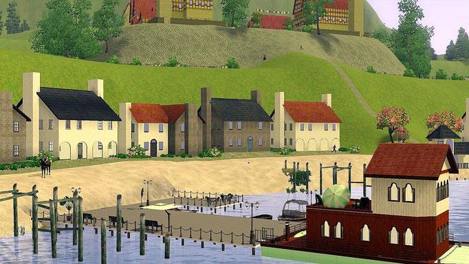 Hafen, Bootsanleger und Hausboot