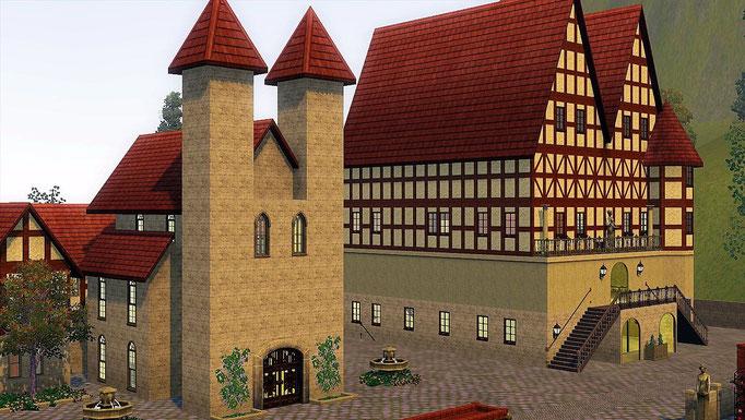 Kirche und Rathaus