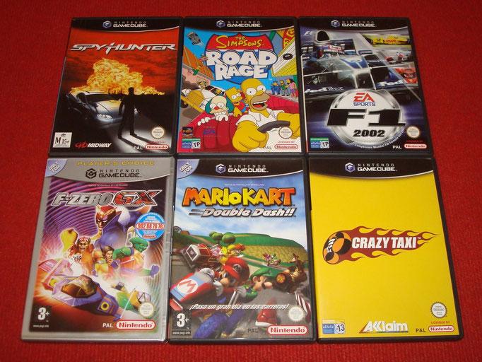 Mis videojuegos de Game Cube (Carreras y cartoon)