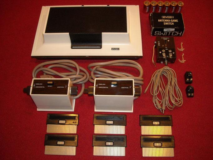 Consola, accesorios para su funcionamiento y tarjetas de soporte