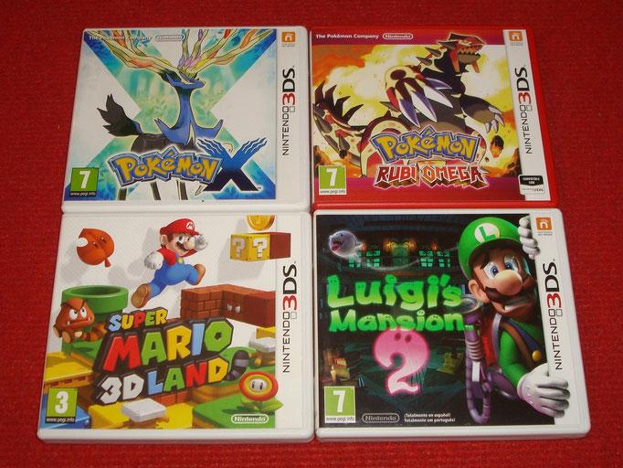 Mis videojuegos de Super Mario Bros. y Pokémon para la Nintendo 3DS
