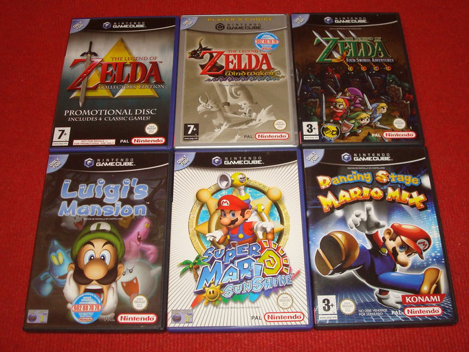 Mis videojuegos de Game Cube (Super Mario Bros. + The Legend of Zelda)