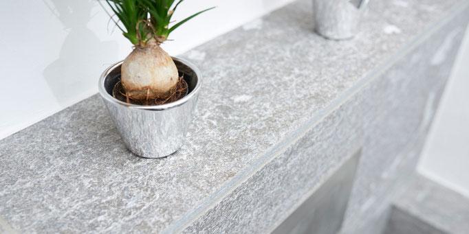 Fliesenlegerfachbetrieb Fliesenfachgeschäft Matthias Raisch Referenzen: Natursteinplatten am Waschbecken