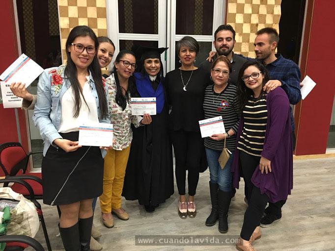 Certificación participantes del Taller Infancias y Juventudes, Universidad de Manizales-Caldas, Colombia, 2018