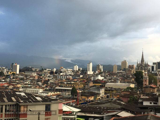 Arcoiris en la ciudad de Manizales-Caldas, Colombia, 2018