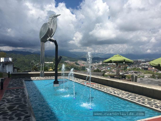 Paisaje y monumento desde la Universidad de Manizales-Caldas, Colombia, 2018