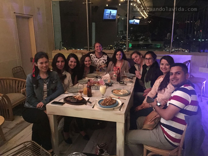 Cena en el restaurante La Azotea del Centro Histórico de Manizales-Caldas, Colombia, 2018