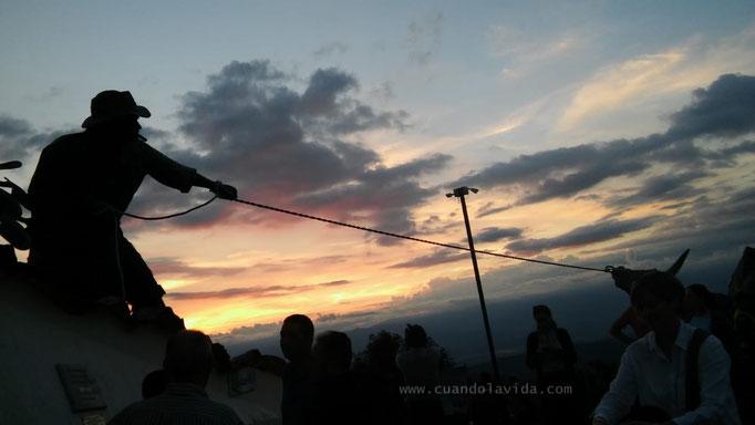 Atardecer desde el Monumento de los Fundadores en Chipre, Manizales-Caldas, Colombia, 2018