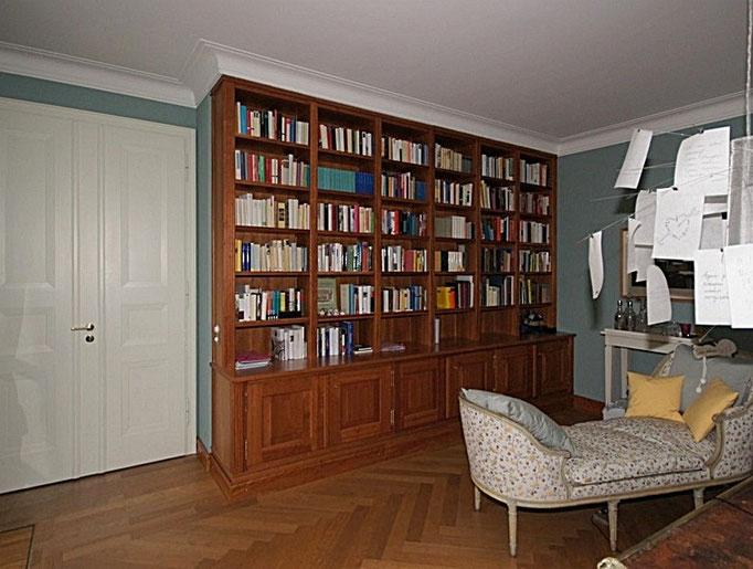 Kompletter Ausbau, Bibliothek in Kirschbaum, Zimmertüre
