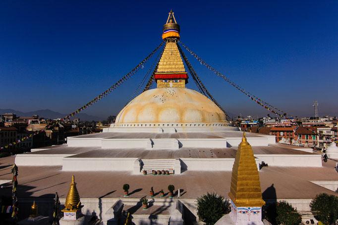 der Große Stupa von Boudha (oder Bodnath) bei Kathmandu