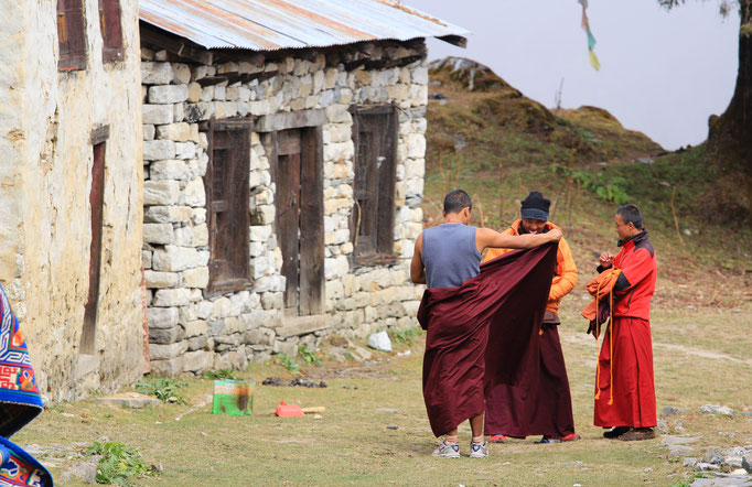 Mönche in Tengboche