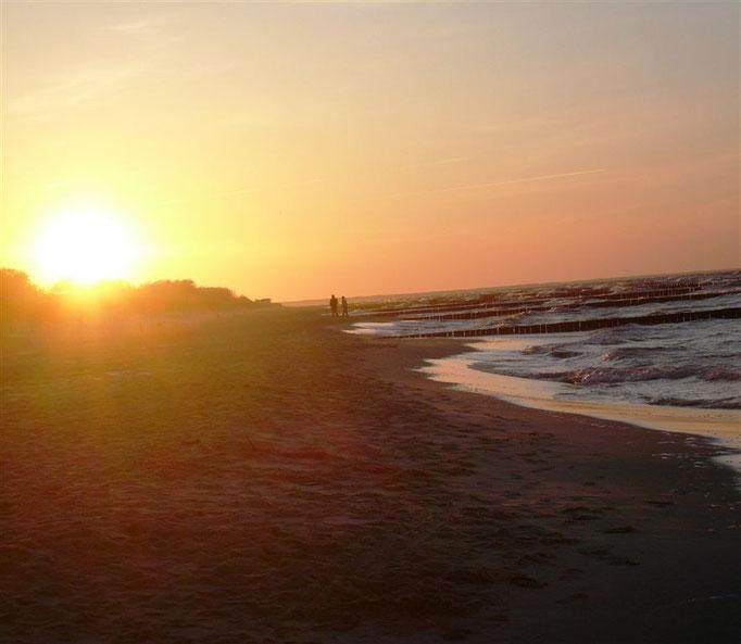 Sonnenuntergang in Koserow