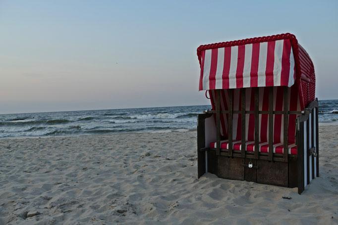 Strandkörbe kann man mieten