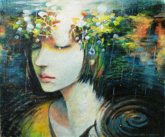 雨音Sold/2012 Acrylics gouacheキャンバス