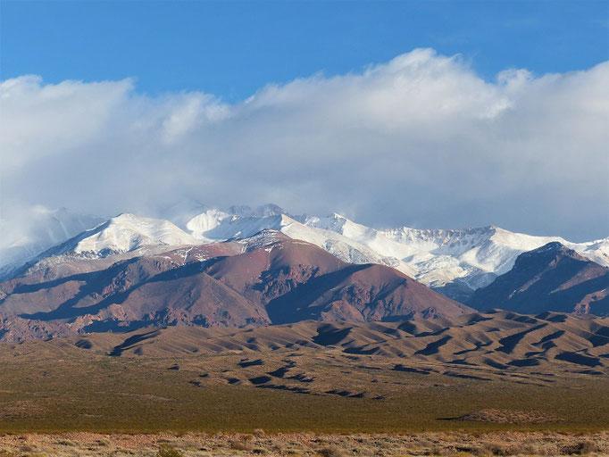 Uspallata - Blick Richtung Anden und Chile