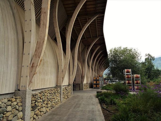 Das neue, ganz aus Holz gebaute Gebäude von Pérez Cruz
