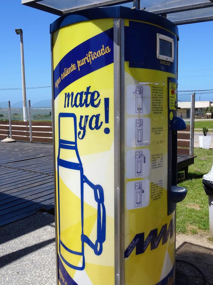 Heisswasser Tankstelle für Mate
