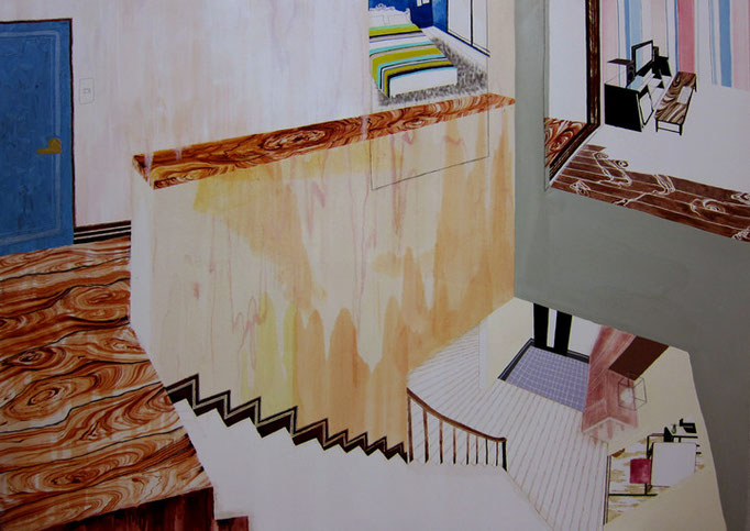 At the stair of my home/1818×2273mm/綿布に油彩と鉛筆/2012