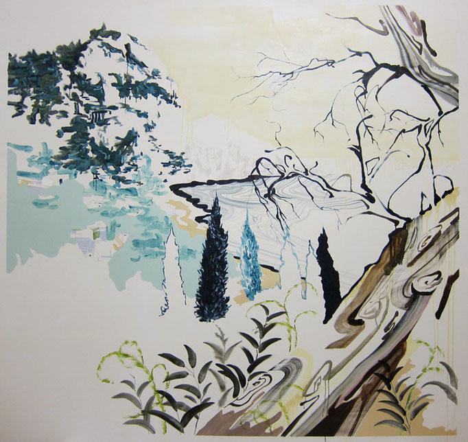 Capri Islands/2050×2150mm/綿布に油彩と鉛筆/2012