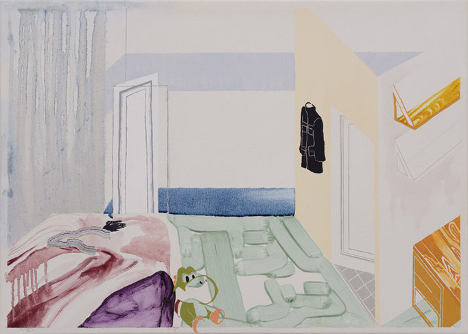 His room/500×700mm/綿布に油彩と鉛筆/2012