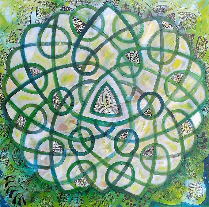 Celtic Dreams 60 x 60 Acryl  (verkauft)