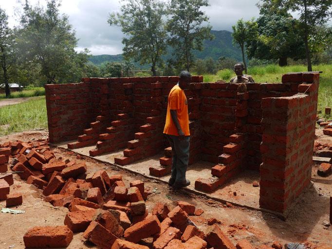 ein Neubauprojekt für die Grundschule: eine Schultoilette