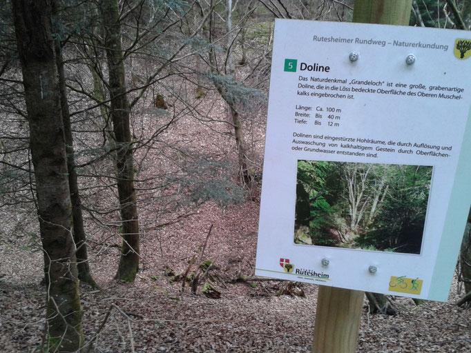"""Das """"Grande Loch"""" bei Rutesheim"""