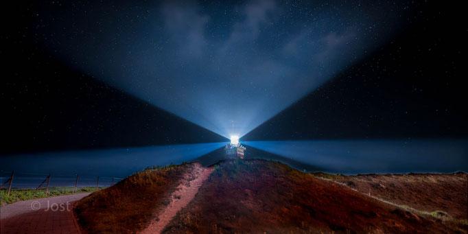 Helgoland - Leuchturm bei Nacht