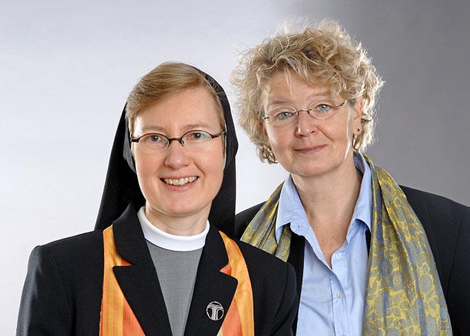 Portätfoto Gabriele Hradetzky und Schwester Maria Magdalena Jardin