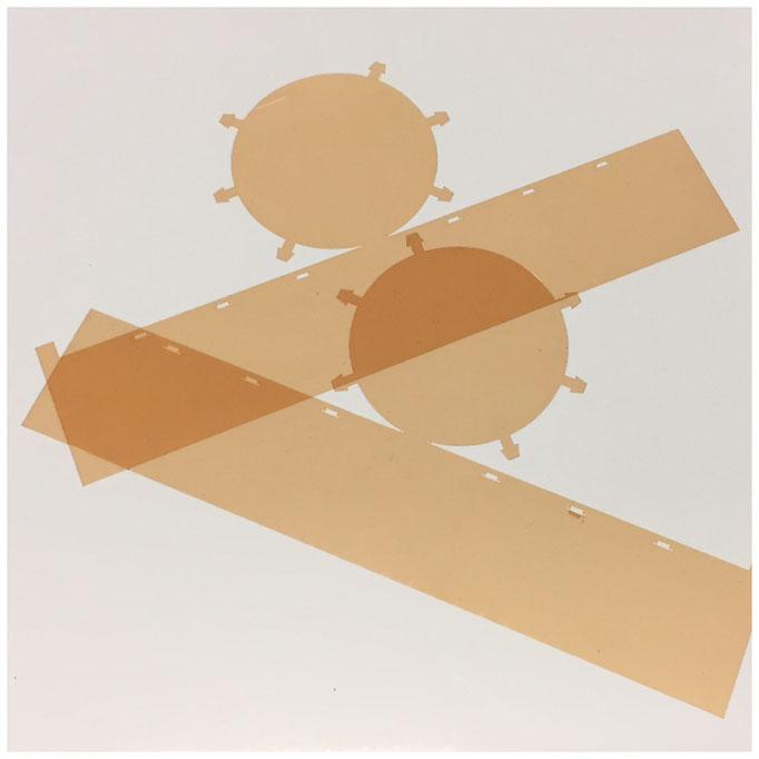 Passgenaue UV-Filter zur Farbtemperaturreglung von LEDs . Material: UV-Warmlichtfilter-Folie