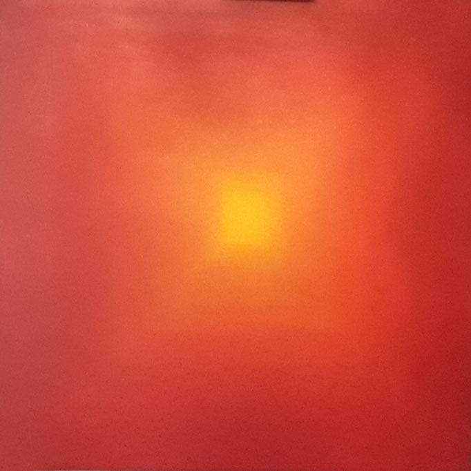 """Yellow shining"", Acryl auf Leinwand, 80 x 80 cm"