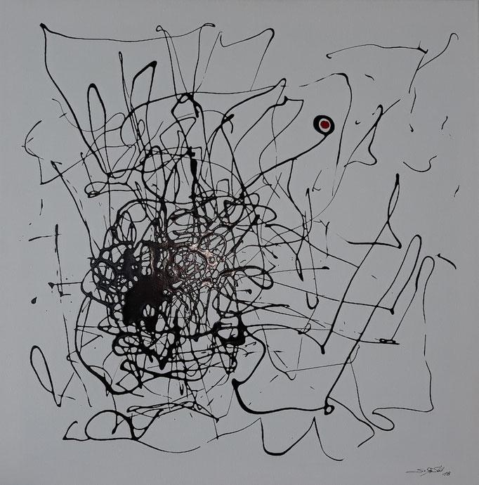 """""""Lange her"""", Lack auf Leinwand, 60 x 60 cm, verkauft"""