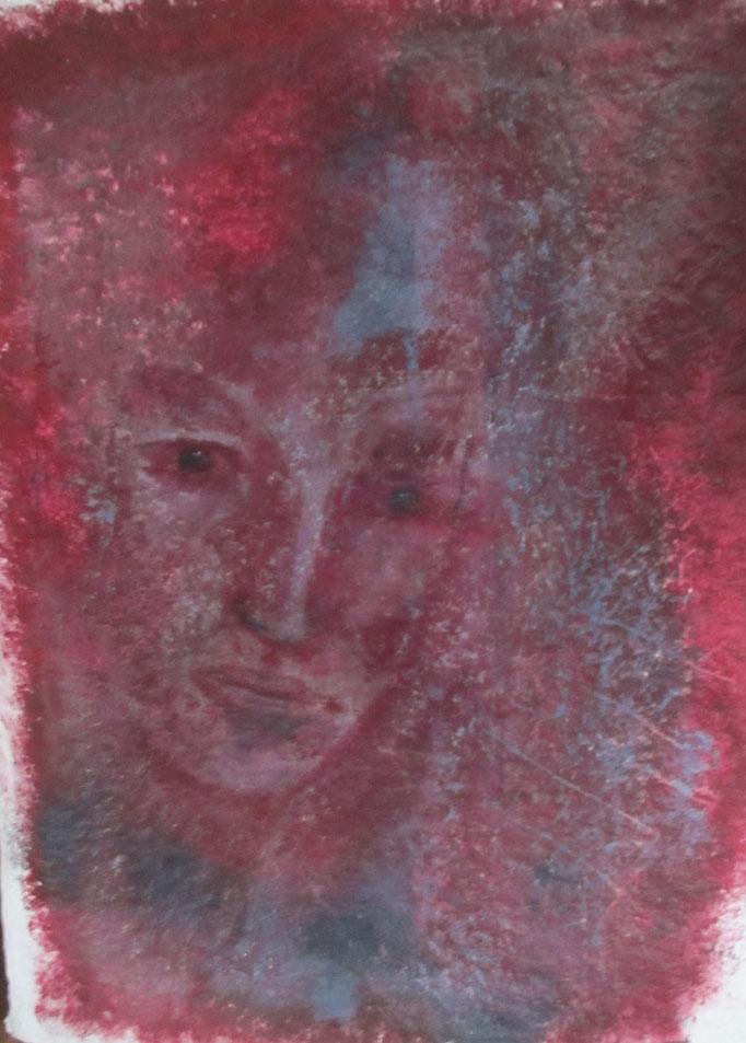 """Das Segment"", Acryl auf Papier, 70 x 55"