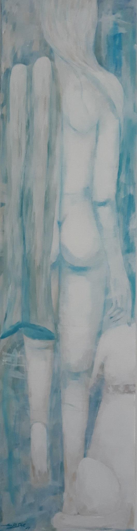 """Ira & Nelson"", Acryl auf Leinwand, 200 x 55 cm, verkauft"