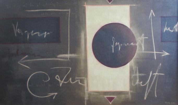 """""""Gezeiten"""", Acryl und Ölkreide auf Leinwand, 90 x 120 cm"""