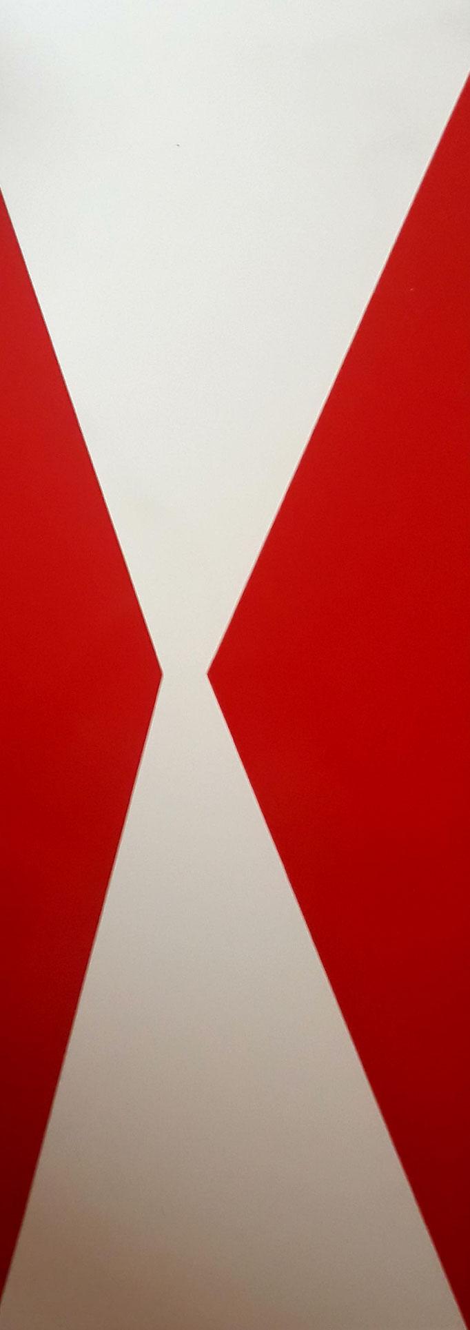 Horizonte IX, Folie auf Plattenträger, 80 x 30 cm