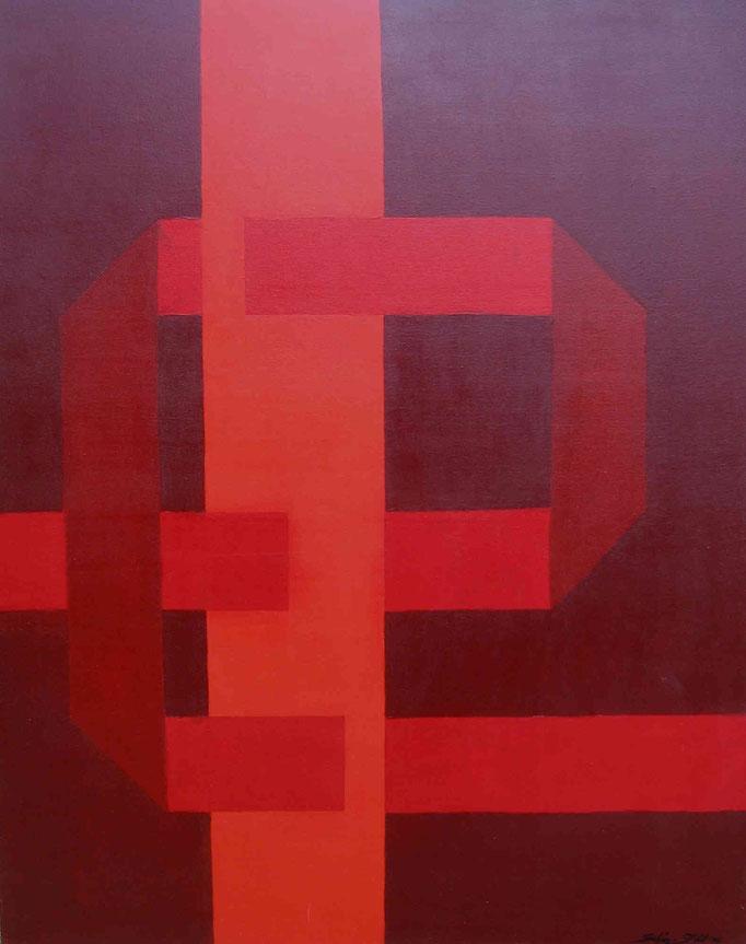 Die Veränderung, Acryl auf Leinwand, 100 x 80 cm