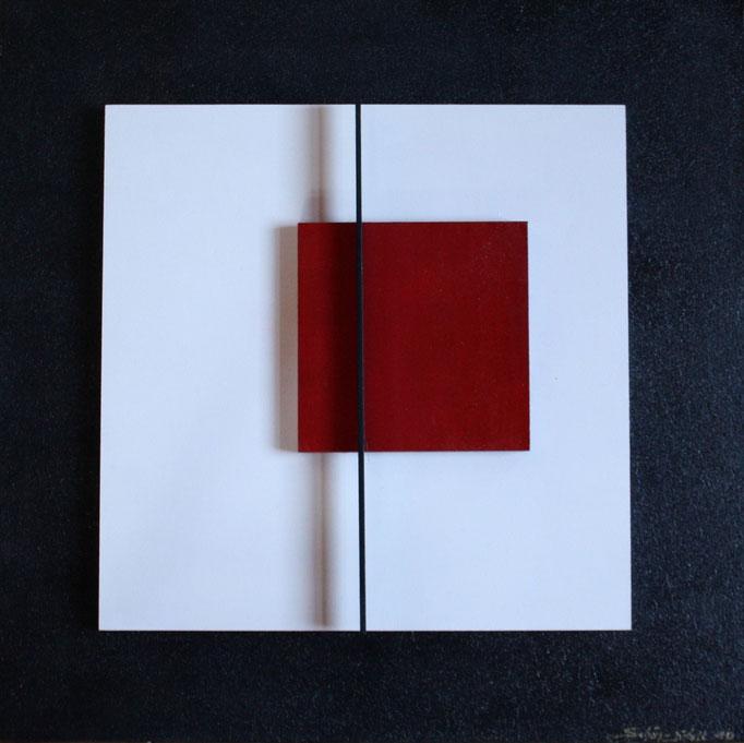 """""""Die Sensibilität"""", Acryl auf MDF, 60 x 60 cm"""