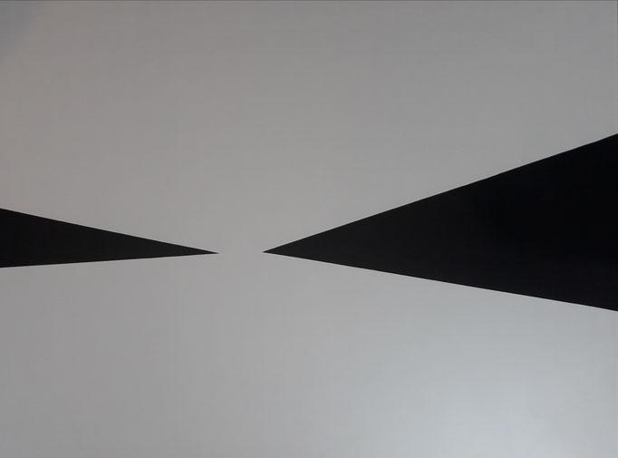 Horizonte II, Folie auf Plattenträger, 60 x 80 cm