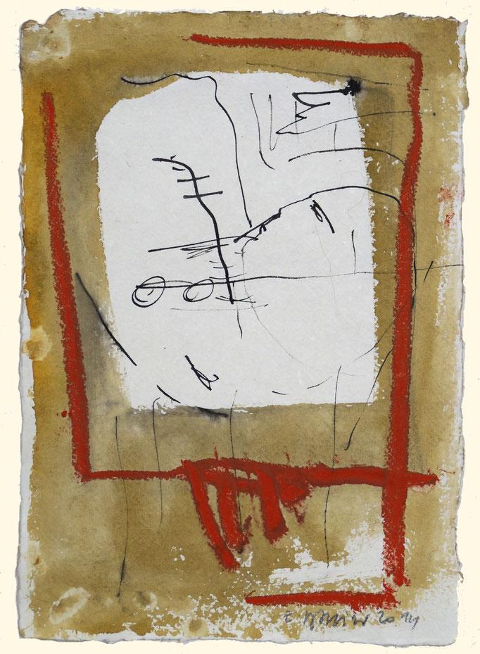 2014TH033,  Mischtechnik auf Bütten, 30 x 21 cm, 2014