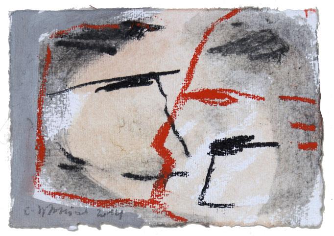 2014TH039,  Mischtechnik auf Bütten, 18,5 x 13,5 cm, 2014