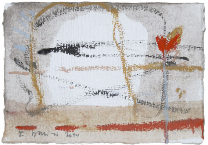 2014TH038,  Mischtechnik auf Bütten, 18,5 x 13,5 cm, 2014