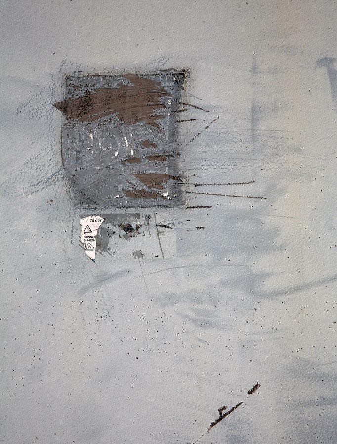 Abstraktion auf Schaltkasten I   2006 | 28 x 37 cm