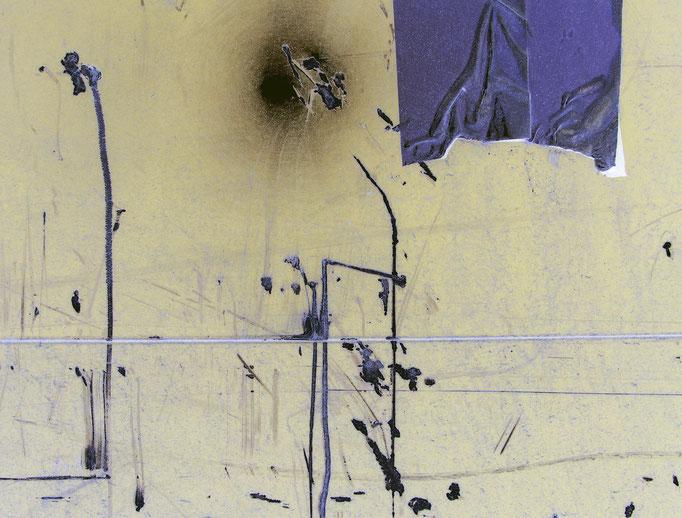 Abstraktum auf Anhängerbordwand   2006 | 37 x 28 cm