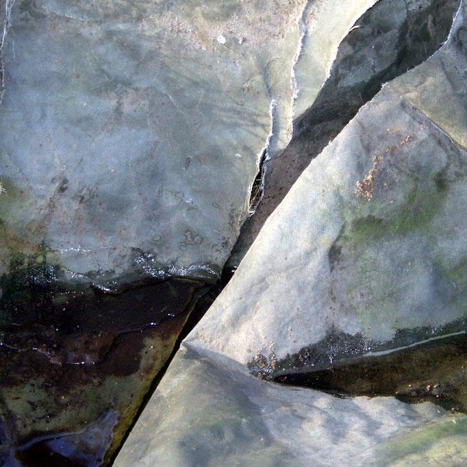 Gewebesack, Blick auf die Nordwand   2005 | 28 x 28 cm