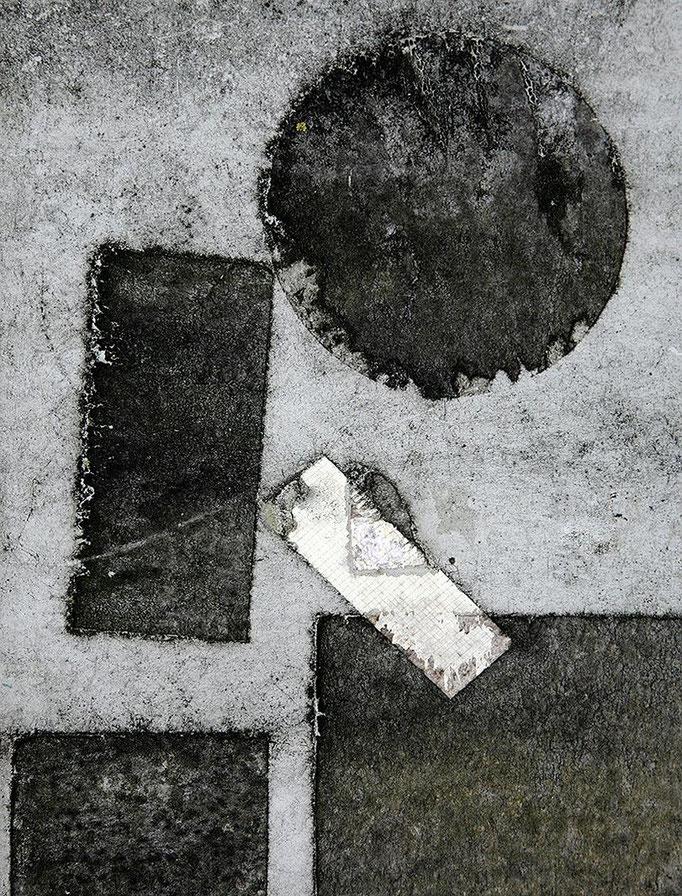 Abstraktum auf Schaltkasten III   2008 | 28 x 28 cm