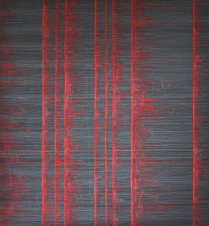Linear, 2017, 196 x 177 cm, Preis für Innovation im großen Format (Quilttriennale 2018)